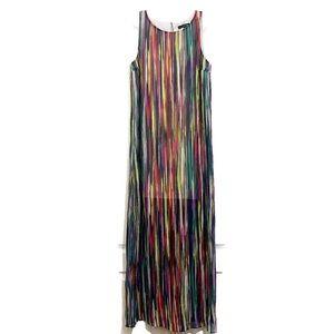 Sangria Maxi Dress Striped Sleeveless Size 8